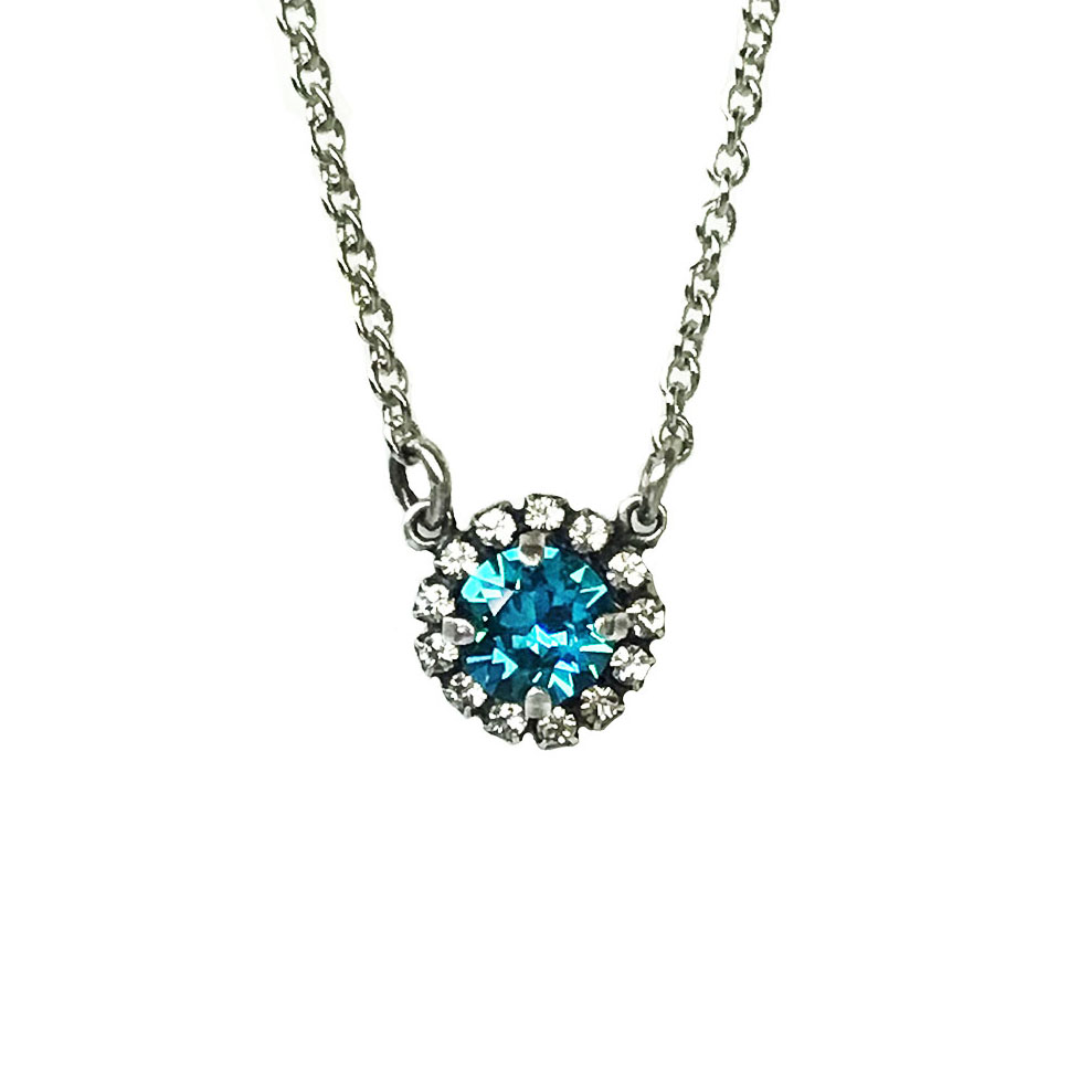 sig collection single halo necklace