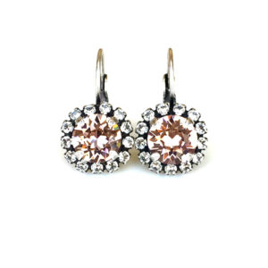 Swarovski Blush Rhinestone Halo Earrings