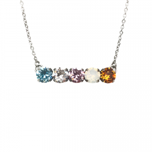 five stone swarovski mother's necklace